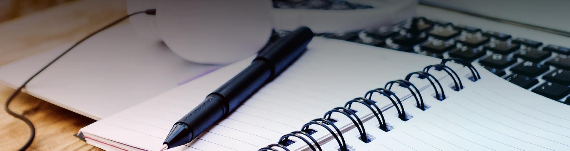 Schrift en pen